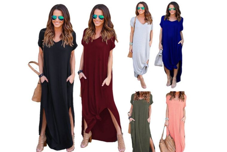 Maxi-Dress-with-Solid-Colors