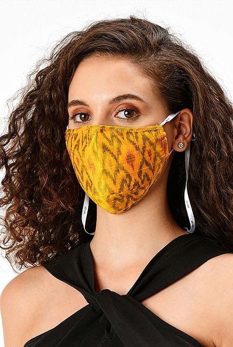 Silk handloom face mask