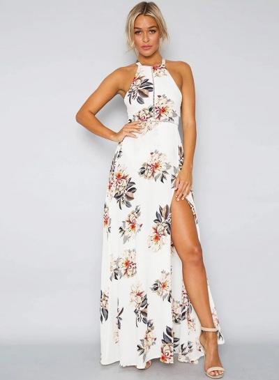 maxi dress with a split