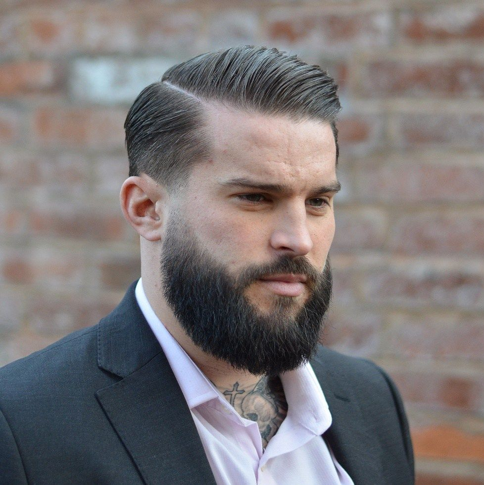 short hairstyles for men with beards