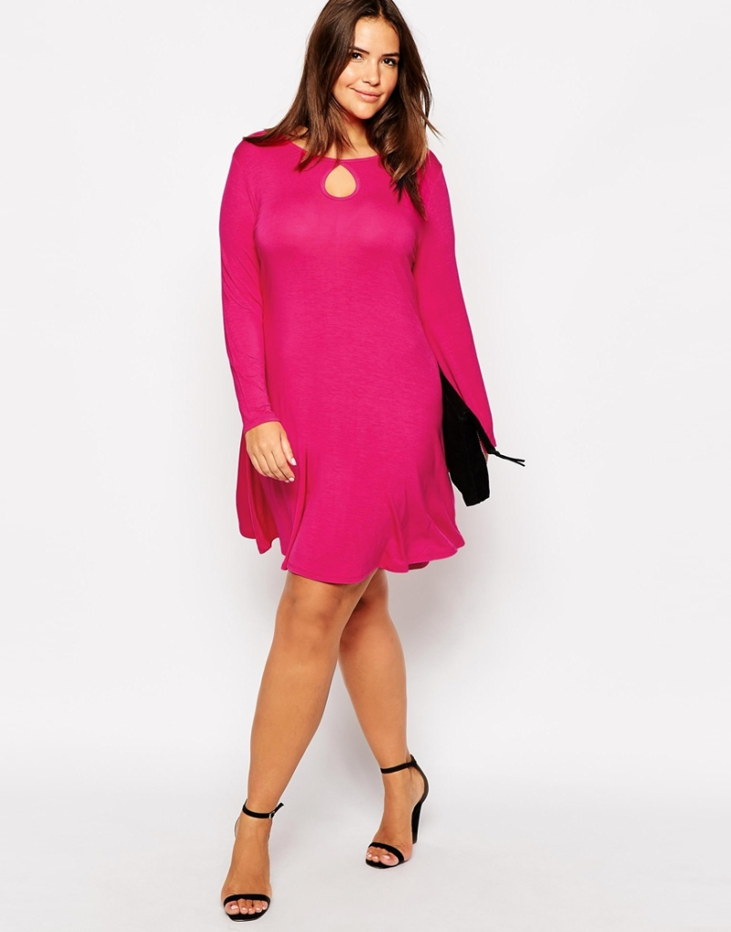 dresses for apple shaped plus size