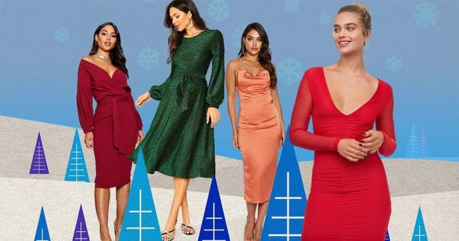 semi formal chrismas party dresses