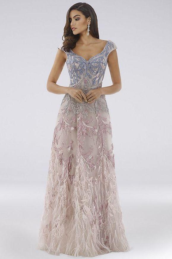 Lace long party dresses for women