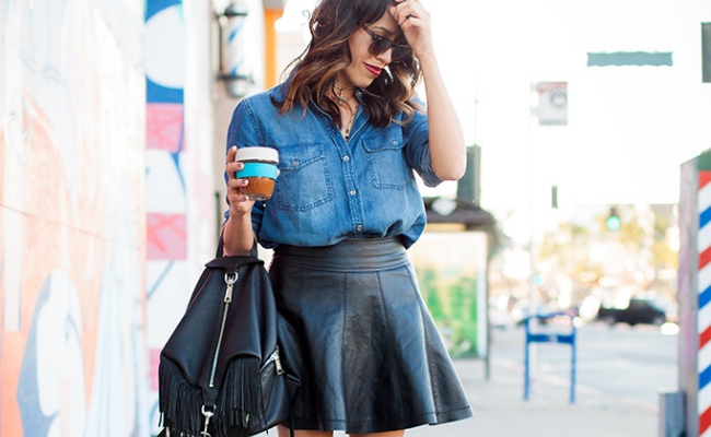Leather Skirt Spring Fashion Trends