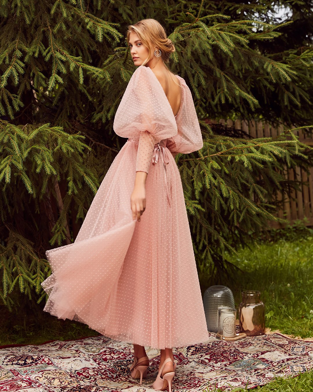 Pastel wedding dress for guest