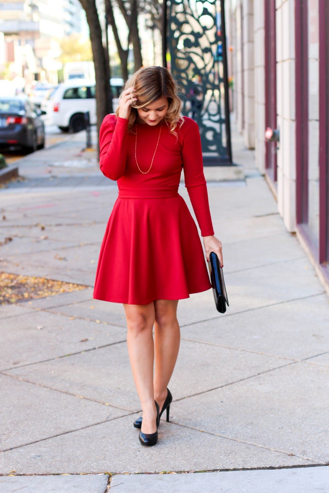 Red Christmas Party Dress Women