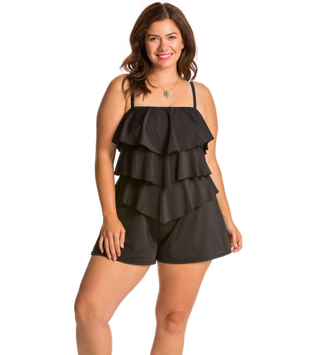 Maxi Dress Plus Size Swimwear