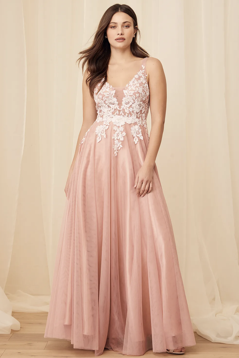 Sequin embroidered maxi dress