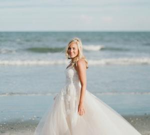 Featured beach wedding bride attire