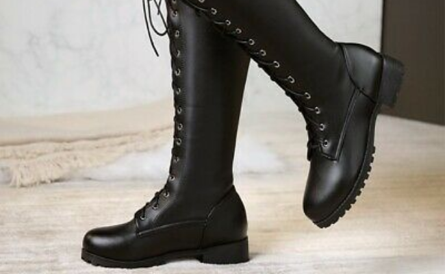 Knee high how to wear combat boots