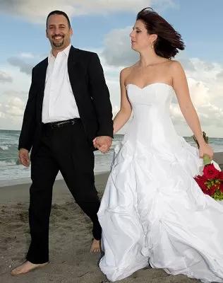 No Tie Beach wedding attire for groom
