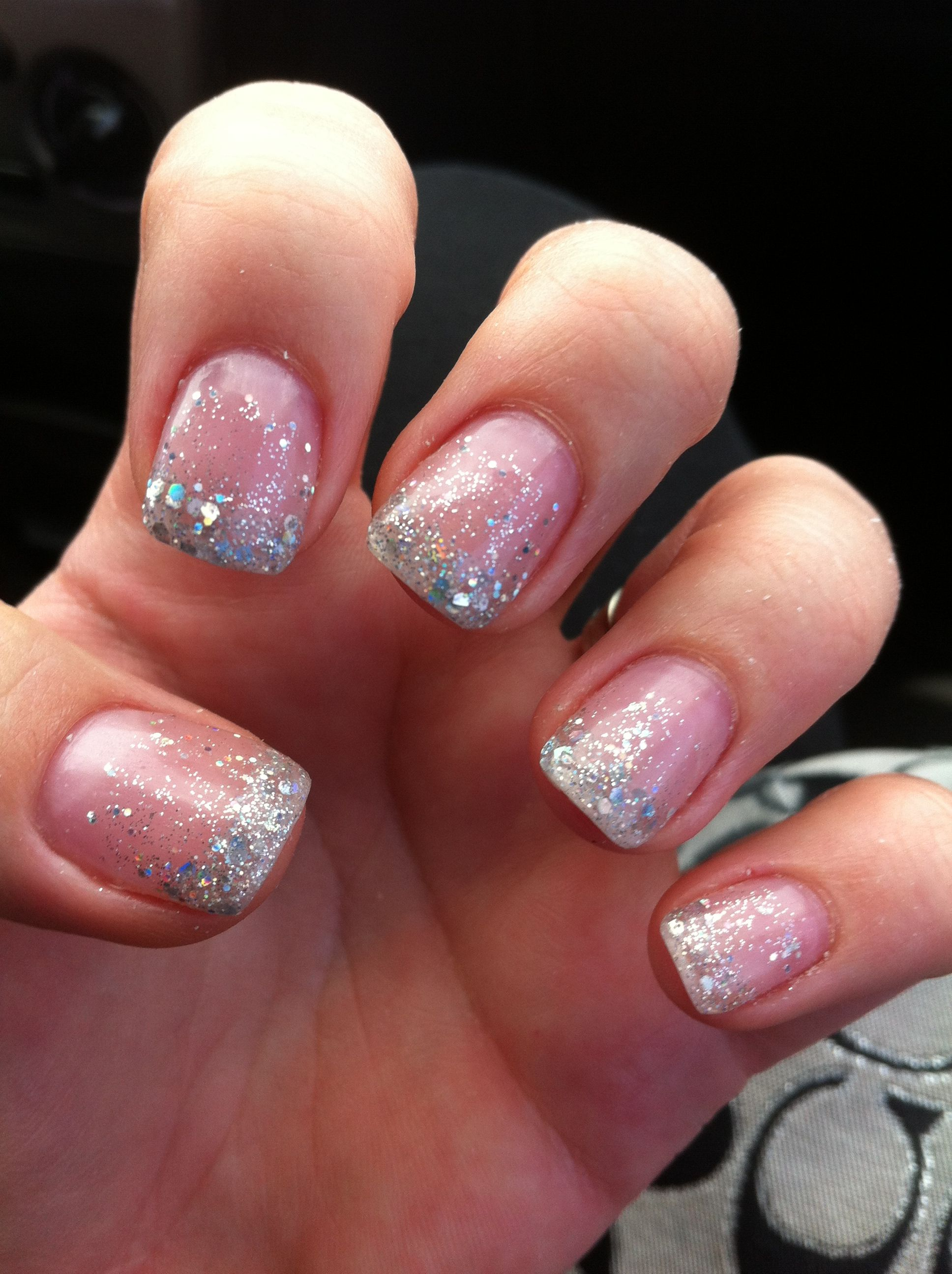 Pink and White solar nail designs
