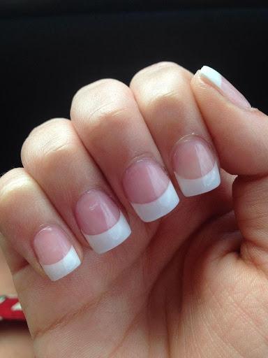 Square cut nails solar nail designs