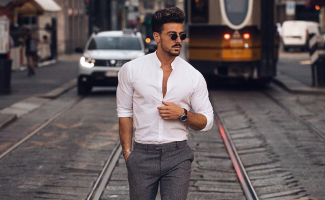 White Shirt First Date Outfits For Men